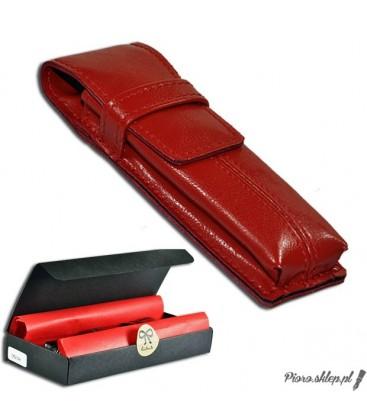 Etui na pióro / długopis ze skóry naturnalnej - czerwone 062