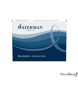 Naboje atramentowe do piór Waterman - niebiesko-czarne, długie, 8szt.
