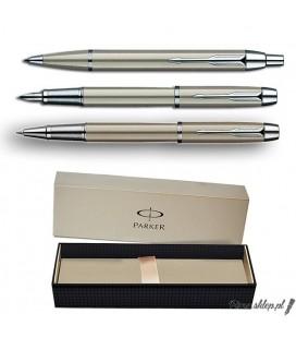 Zestaw piśmienny Parker IM Brushed Metal CT - pióro wieczne, długopis, pióro kulkowe