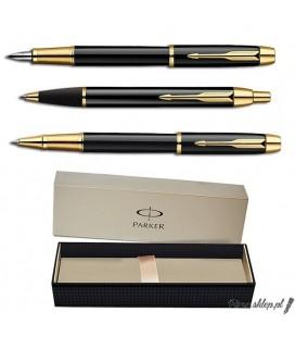 Zestaw piśmienny Parker IM Czarny GT - pióro wieczne, długopis, pióro kulkowe