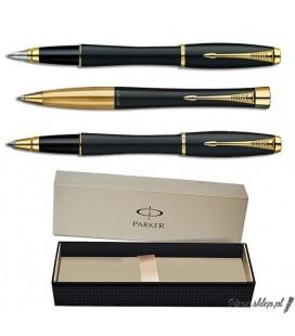 Zestaw piśmienny Parker Urban Czarny Mat GT - pióro wieczne, długopis, pióro kulkowe