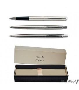 Zestaw piśmienny Parker Jotter Stalowy CT - pióro wieczne, długopis, ołówek