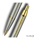 Zestaw Parker IM Brushed Metal GT - pióro wieczne, długopis, czarne etui