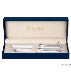 Zestaw piśmienny Waterman Hemisphere Biel CT - pióro wieczne, długopis