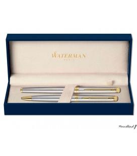 Zestaw piśmienny Waterman Hemisphere Stal GT - pióro wieczne, długopis