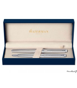 Zestaw piśmienny Waterman Hemisphere Stal CT - pióro wieczne, długopis