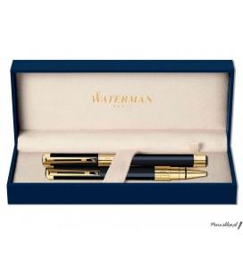 Zestaw piśmienny Waterman Perspective Czerń GT - pióro wieczne, długopis