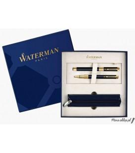 Zestaw prezentowy Waterman Perspective Czerń GT - pióro wieczne, długopis, etui