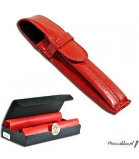 Etui na pióro / długopis ze skóry naturnalnej - czerwone 064