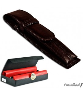 Etui na pióro / długopis ze skóry naturnalnej - brązowe 064