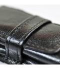 Etui na pióro / długopis ze skóry naturnalnej - czarne 062